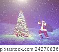 Santa Claus Christmas Tree Gifts Christmas Concept 24270836