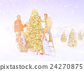 Family Celebrating Christmas Outdoors Concept 24270875