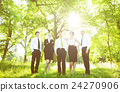 Group of Business People get Relaxing Outdoors Concept 24270906