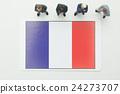 法國國旗 全球 商業 24273707