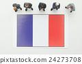 法國國旗 全球 商業 24273708