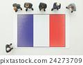 法國國旗 全球 商業 24273709