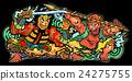 Nebuta Festival - Black Background 24275755