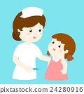 smiley nurse talk to girl vector 24280916