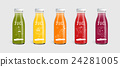 Glass juice bottle brand concept 24281005