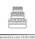 Wedding Cake icon Illustration design 24281486