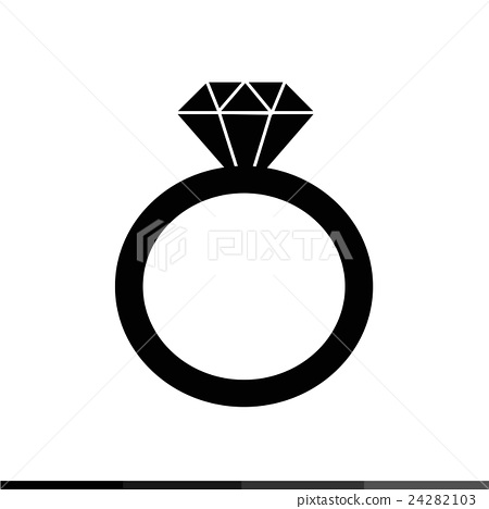 Diamond ring icon Illustration design 24282103