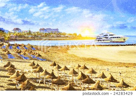Sunrise on Tenerife beach, Canary 24283429