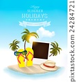 Summer holidays background. Vacation memories. 24284721