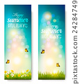 Happy summer holidays background with flowers,  24284749