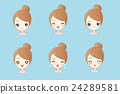 girl  have variety of expressionsl 24289581