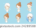cartoon skin care woman 24289588