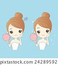 Woman Face problem Concept 24289592