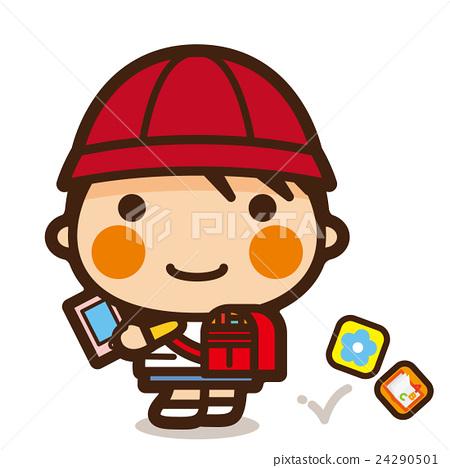 นักเรียนประถม,สมาร์ทโฟน,ไอคอน 24290501