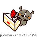 蛋糕 脆饼 草莓 24292358