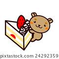蛋糕 脆饼 草莓 24292359