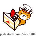 蛋糕 脆饼 草莓 24292386
