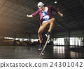 Skateboarding Practice Freestyle Extreme Sports Concept 24301042