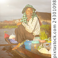 Local Cambodian Seller In Floating Market Concept 24301098