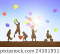 Balloon Activity Casual Cheerful Children Youth Concept 24301931
