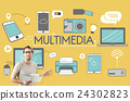 Multimedia Communication Connection Technology Devices Concept 24302823