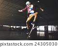 Skateboarding Practice Freestyle Extreme Sports Concept 24305030