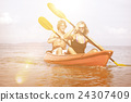 Kayaking Adventure Happiness Recreational Pursuit Couple Concept 24307409