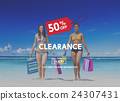 Clearance Promotion Discount Consumer Shopping Concept 24307431