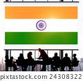India Flag Patriotism Indian Pride Unity Concept 24308322