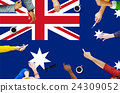 Australia Flag Country Nationality Liberty Concept 24309052