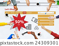 Online Shopping Marketing Sale Promotion Concept 24309301