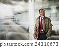 Schedule Businessman Confidence Escalator Urban Concept 24310673