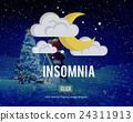 Sleep Apnea Insomnia Sleep Deprivations Disorders Sleepless Concept 24311913