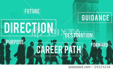Direction Directional Goal Way Motivation Progress Concept 24313218