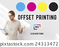 Printing Process Offset Ink Color Industry Media Concept 24313472