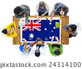 Australia Flag Country Nationality Liberty Concept 24314100