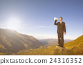Businessman Shouting on the Top of the Mountain 24316352