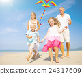 beach, family, playing 24317609