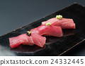 quality tuna, sushi, fat under-belly of tuna 24332445