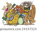 Monsters rock party,hand drawn style 24337323