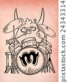 monster drummer ,playing drum  24343314