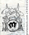 monster drummer ,playing drum  24343315