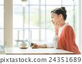 여성, 1명, 카페 24351689