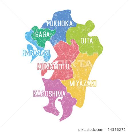Kyushu map _ color coding 24356272