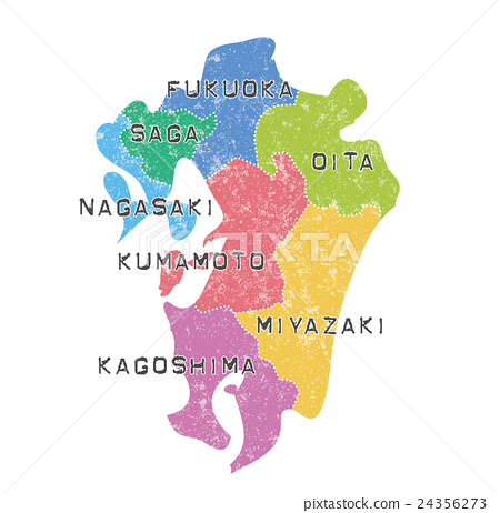 九州地圖_顏色編碼 24356273