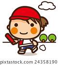 小學生 女孩 接力賽 24358190