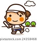 小學生 女孩 接力賽 24358468