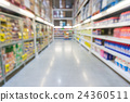 Product Display Shelf with walkway in Supermarket 24360511