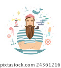 vector, sailor, man 24361216