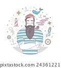 vector, sailor, man 24361221